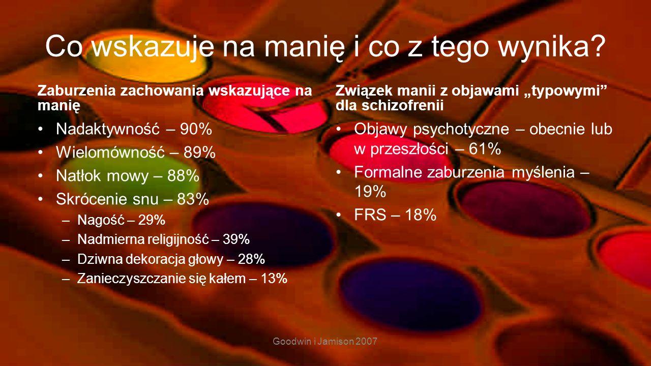 15 Kłopoty diagnostyczne – mania vs. hipomania Nasilenie objawów Brak objawów psychotycznych Czas trwania (7 dni v 4 dni) Brak konieczności hospitaliz