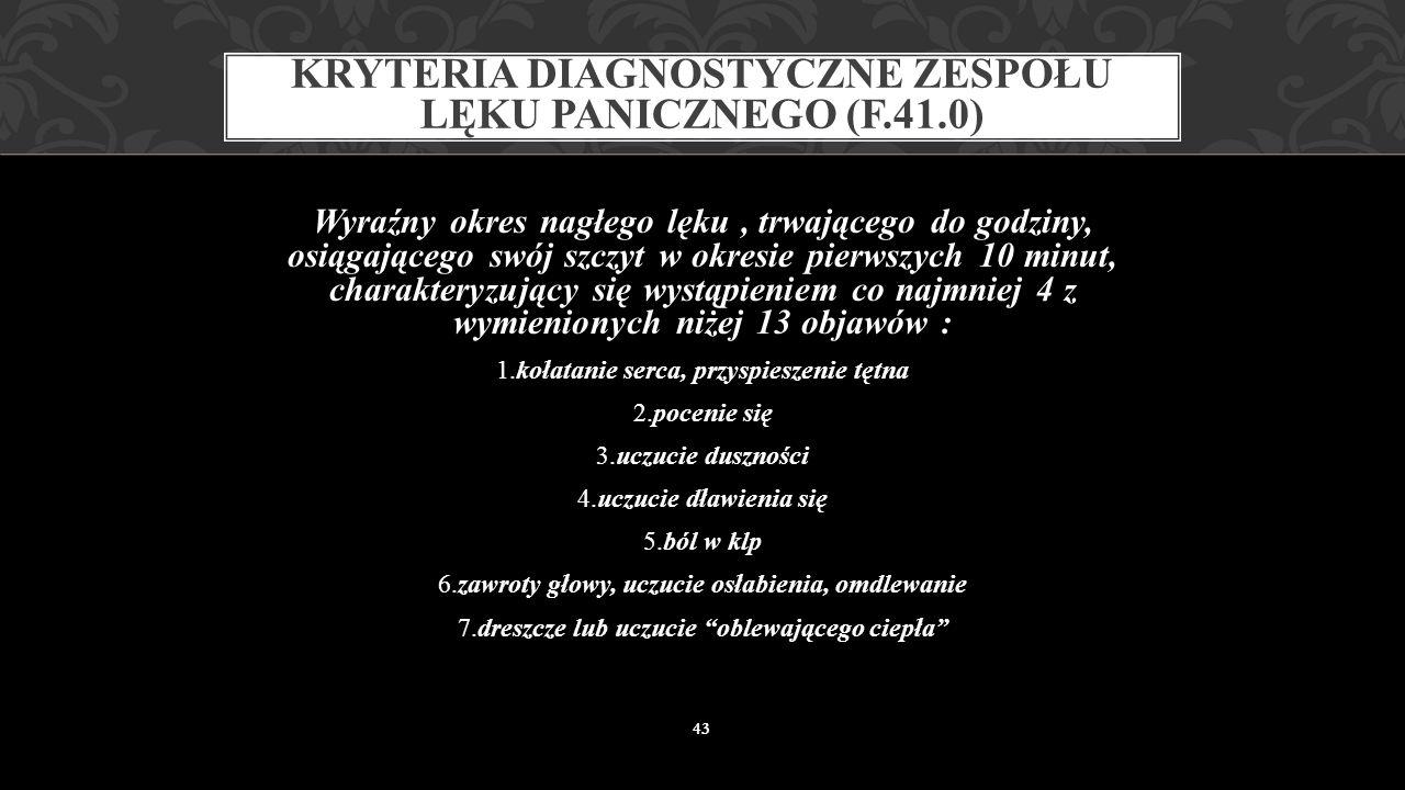 ZESPÓŁ LĘKU PANICZNEGO 42