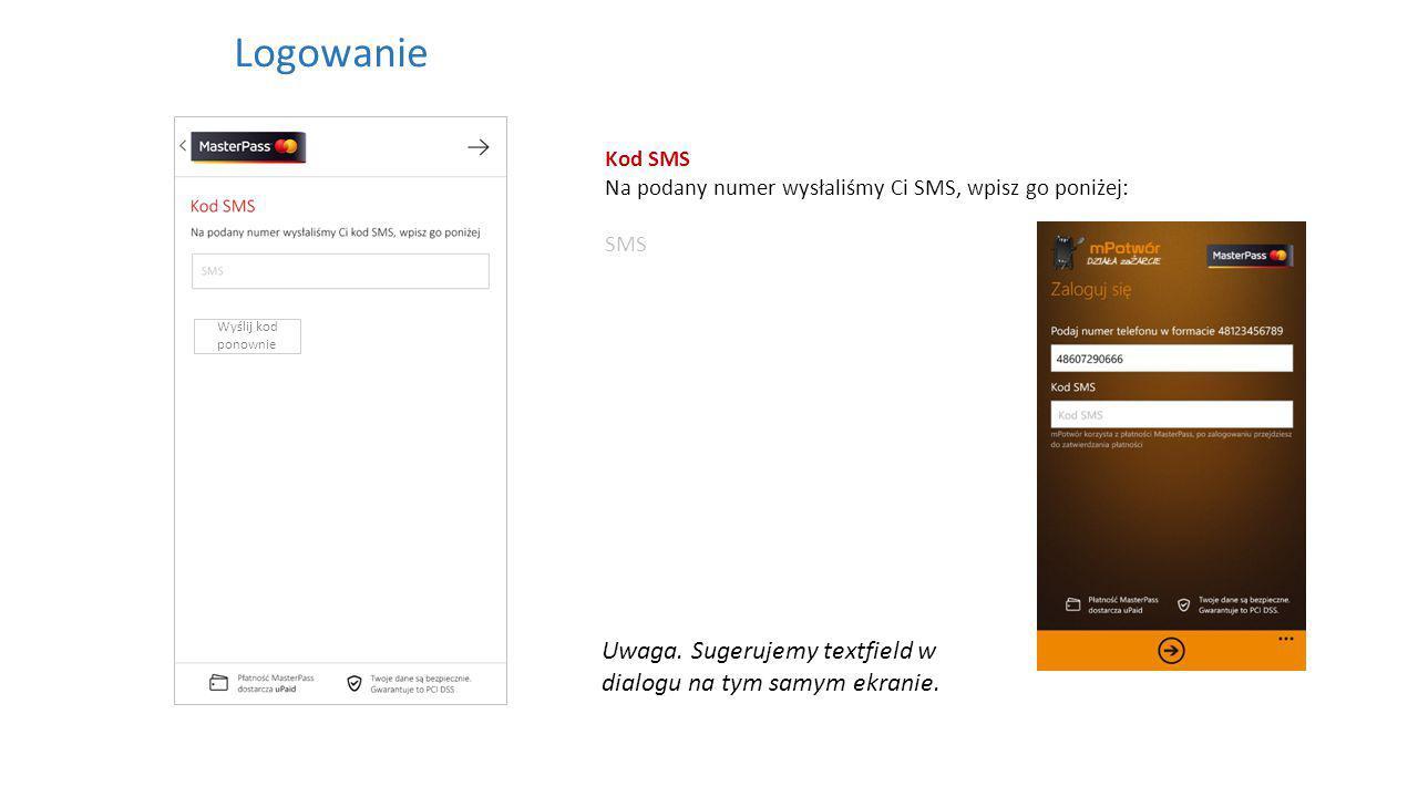 Kod SMS Na podany numer wysłaliśmy Ci SMS, wpisz go poniżej: SMS Logowanie Wyślij kod ponownie Uwaga.