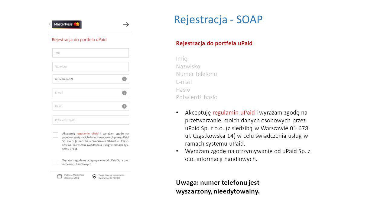 Rejestracja do portfela uPaid Imię Nazwisko Numer telefonu E-mail Hasło Potwierdź hasło Akceptuję regulamin uPaid i wyrażam zgodę na przetwarzanie moich danych osobowych przez uPaid Sp.