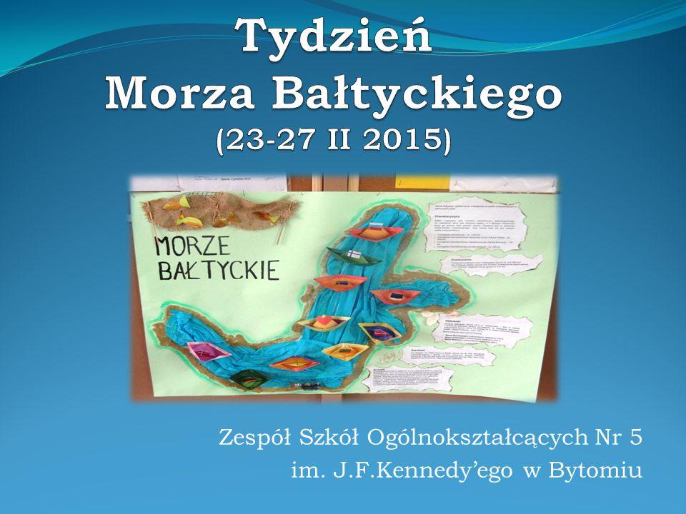 Tydzień Morza Bałtyckiego w ZSO Nr 5 w Bytomiu, odbył się dzięki wsparciu merytorycznemu, dydaktycznemu i honorowym patronatom Stacji Morskiej Instytutu Oceanografii Uniwersytetu Gdańskiego w Helu
