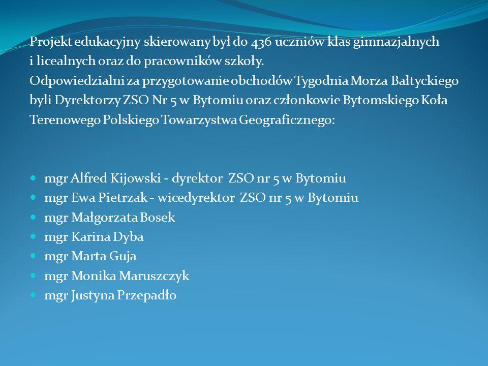 Dyrektor ZSO nr 5 w Bytomiu: mgr Alfred Kijowski Wicedyrektor - mgr Ewa Pietrzak Zespół Szkół Ogólnokształcących Nr 5 im.
