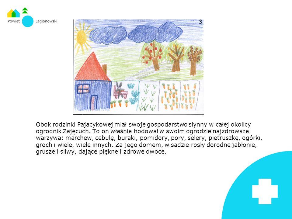 Obok rodzinki Pajacykowej miał swoje gospodarstwo słynny w całej okolicy ogrodnik Zajęcuch. To on właśnie hodował w swoim ogrodzie najzdrowsze warzywa