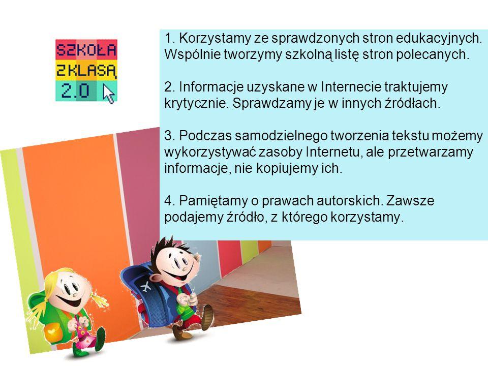5.Komunikujemy się z nauczycielami poprzez pocztę elektroniczną, platformę E-nauczanie.