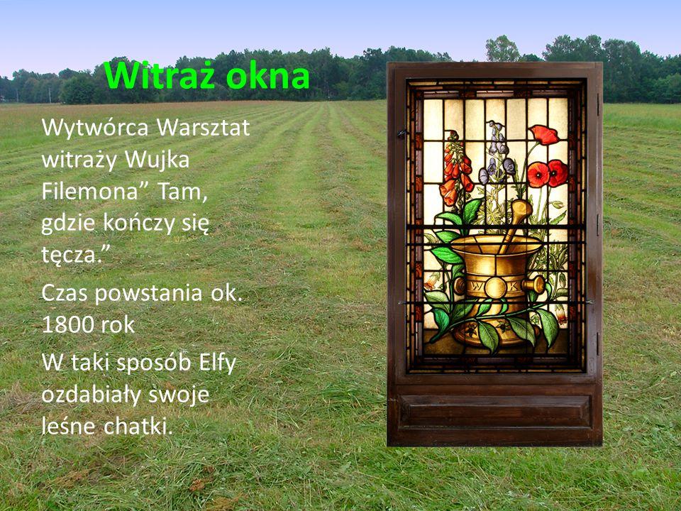 Witraż okna Wytwórca Warsztat witraży Wujka Filemona Tam, gdzie kończy się tęcza. Czas powstania ok.