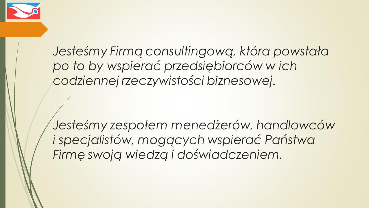 Jesteśmy Firmą consultingową, która powstała po to by wspierać przedsiębiorców w ich codziennej rzeczywistości biznesowej.