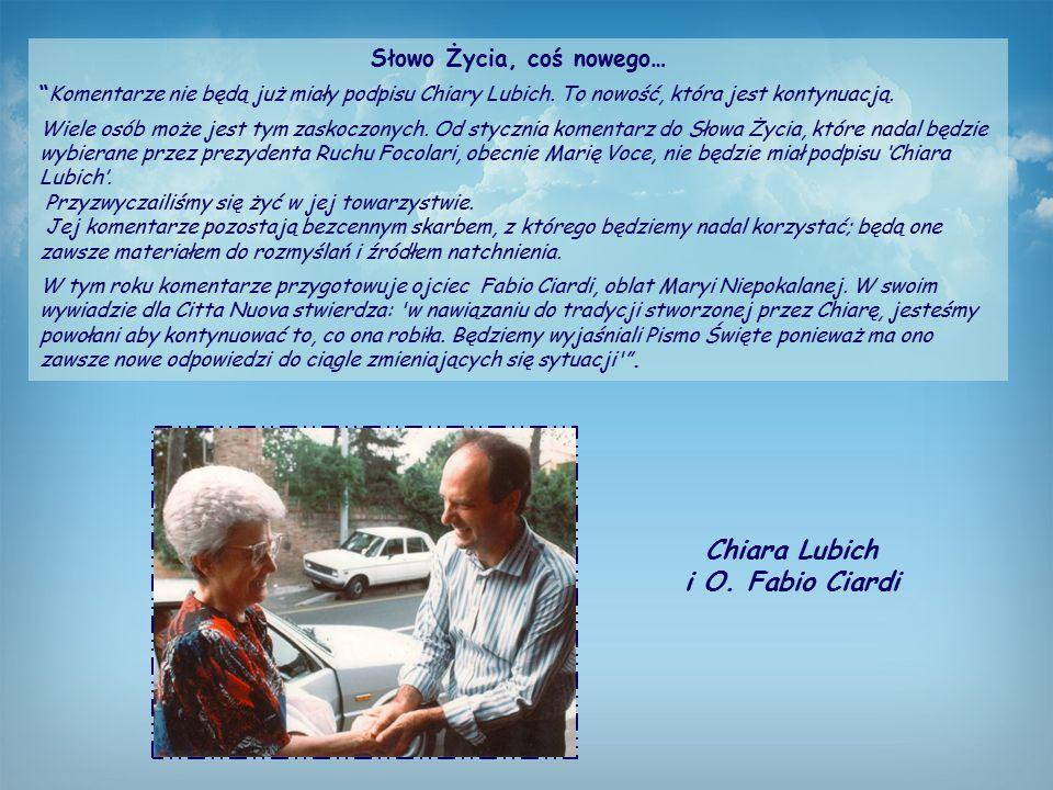 Słowo Życia, coś nowego… Komentarze nie będą już miały podpisu Chiary Lubich.