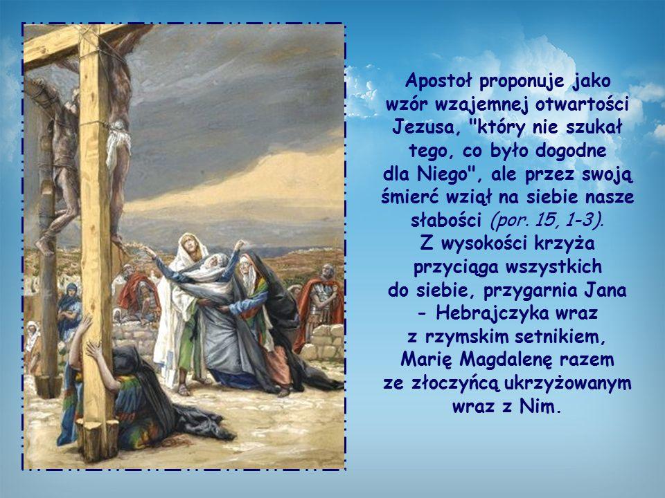 """Św. Paweł mówi o tym, jak stosować, także w tym przypadku, podstawową zasadę życia chrześcijańskiego, którą przypomniał przed chwilą w liście: """"Wypełn"""