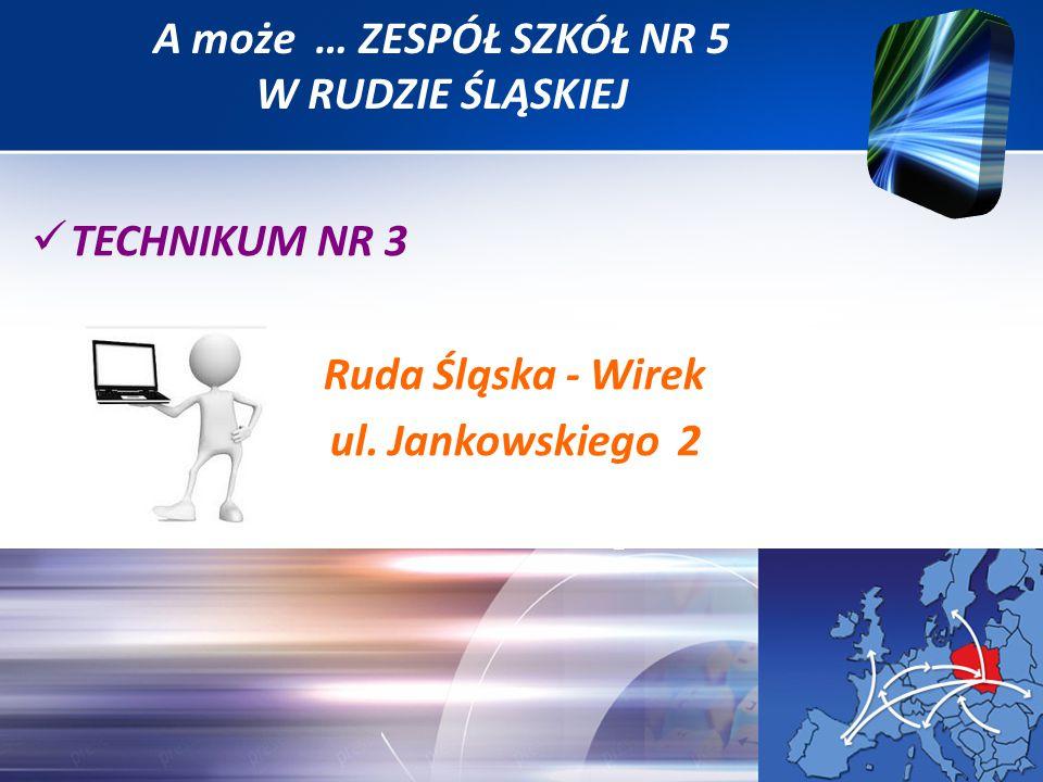 TECHNIKUM NR 3 Ruda Śląska - Wirek ul. Jankowskiego 2 A może … ZESPÓŁ SZKÓŁ NR 5 W RUDZIE ŚLĄSKIEJ