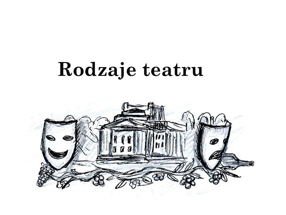 Rodzaje teatru