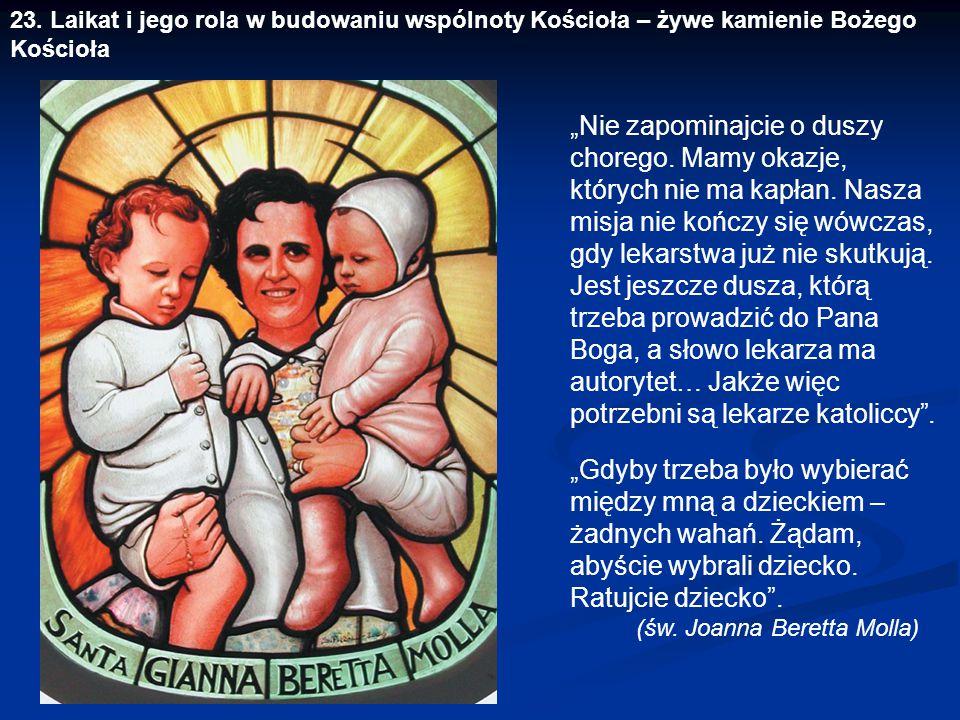 """""""Gdyby trzeba było wybierać między mną a dzieckiem – żadnych wahań. Żądam, abyście wybrali dziecko. Ratujcie dziecko"""". (św. Joanna Beretta Molla) """"Nie"""