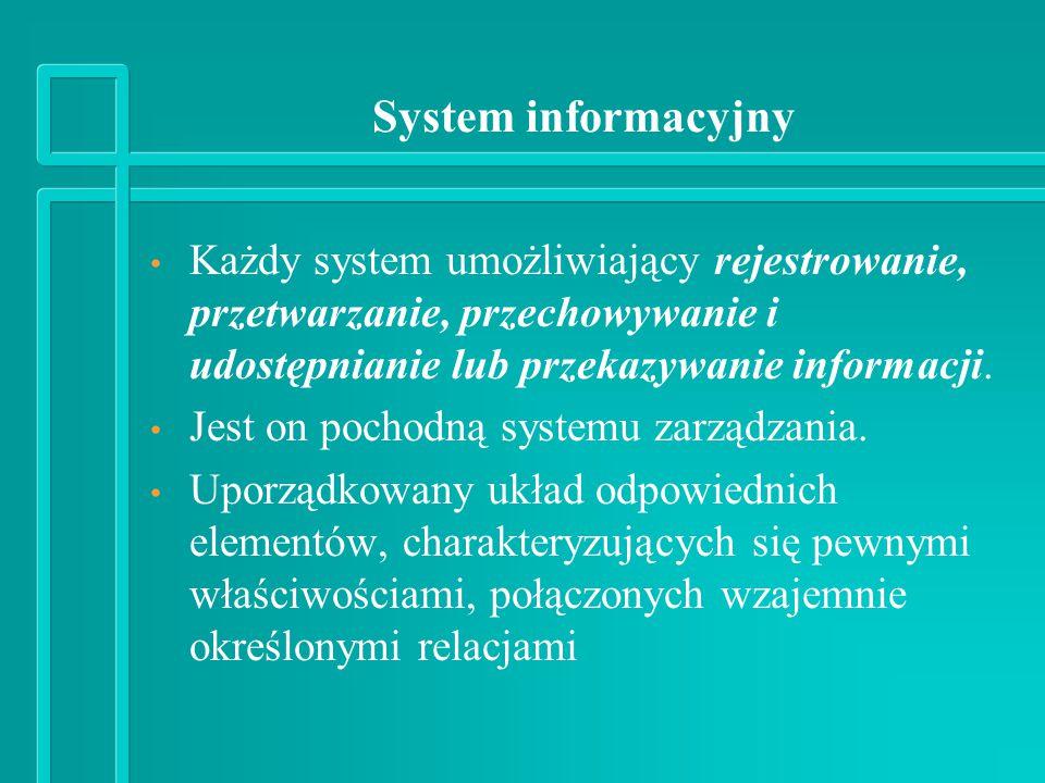 System informacyjny - ujęcie statyczne