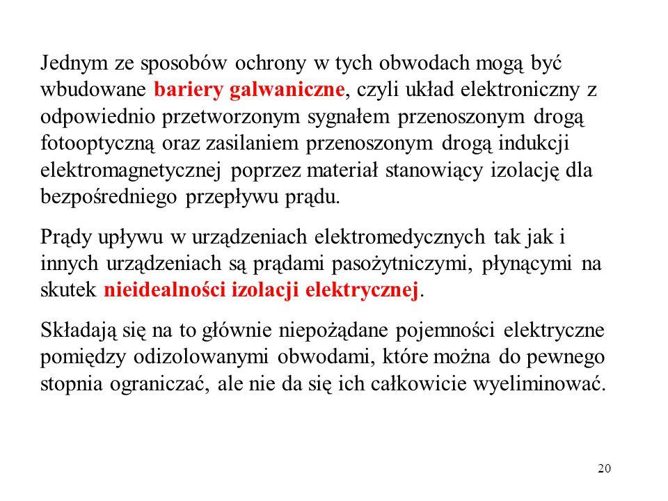 20 Jednym ze sposobów ochrony w tych obwodach mogą być wbudowane bariery galwaniczne, czyli układ elektroniczny z odpowiednio przetworzonym sygnałem p