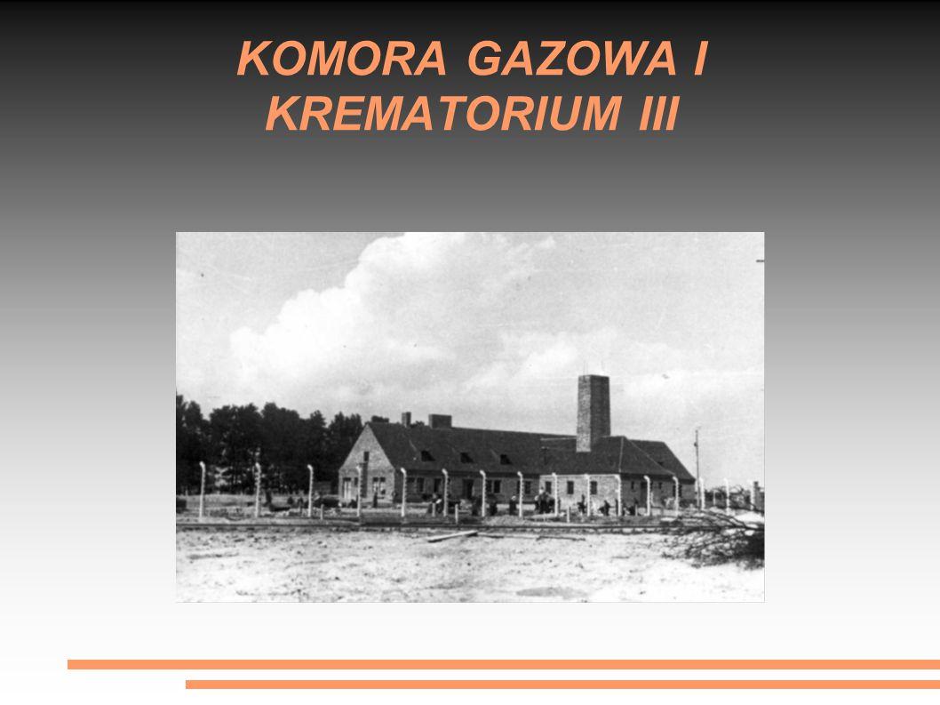 KOMORA GAZOWA I KREMATORIUM III