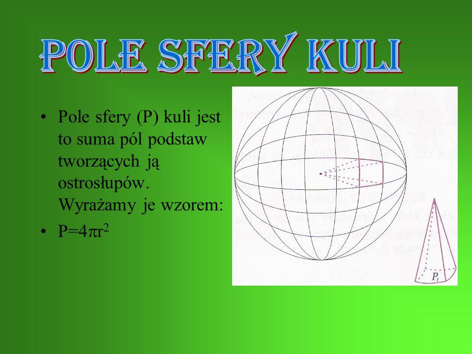 Pole całkowite stożka Pc=  rl+  r 2 Pc-pole całkowite l- długość tworzącej r- długość promienia