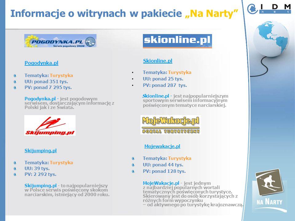 Pogodynka.pl Tematyka: Turystyka UU: ponad 351 tys.