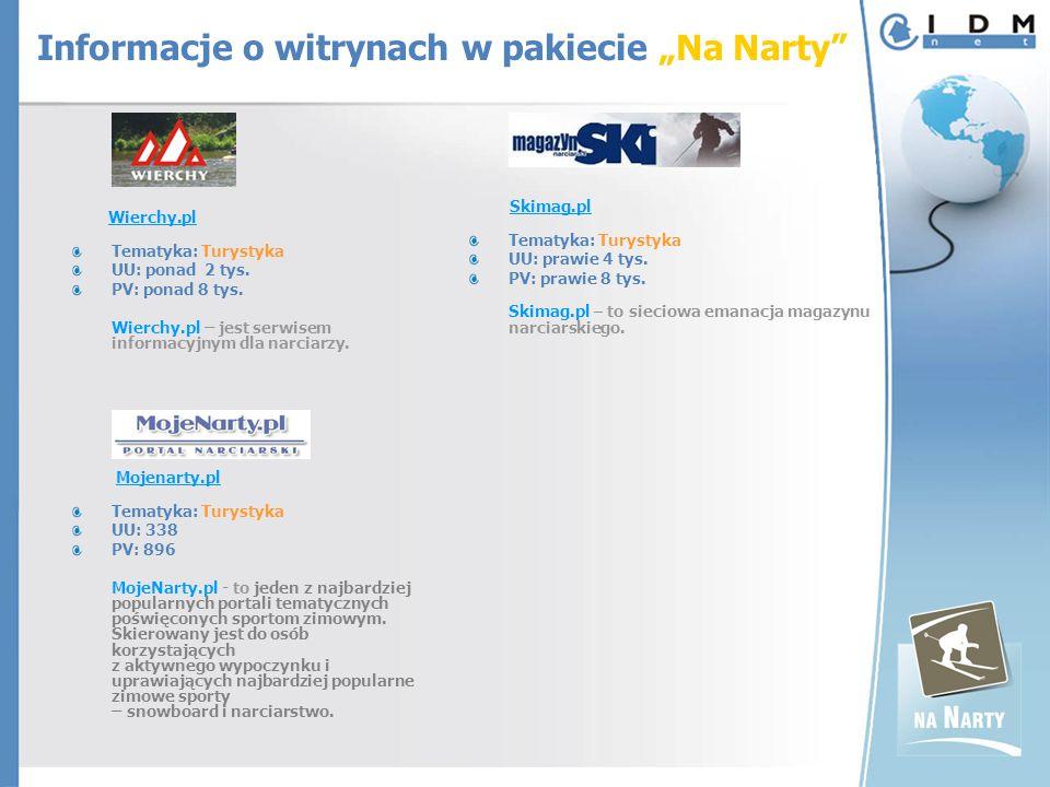 Wierchy.pl Tematyka: Turystyka UU: ponad 2 tys.PV: ponad 8 tys.
