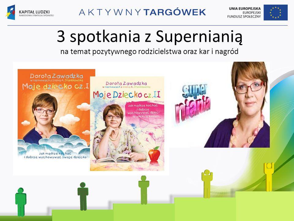 3 spotkania z Supernianią na temat pozytywnego rodzicielstwa oraz kar i nagród