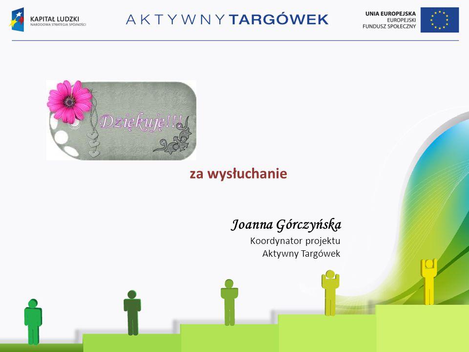za wysłuchanie Joanna Górczyńska Koordynator projektu Aktywny Targówek