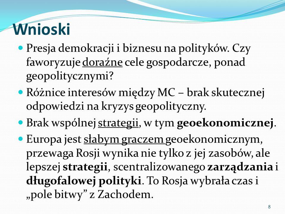 Wnioski Presja demokracji i biznesu na polityków.