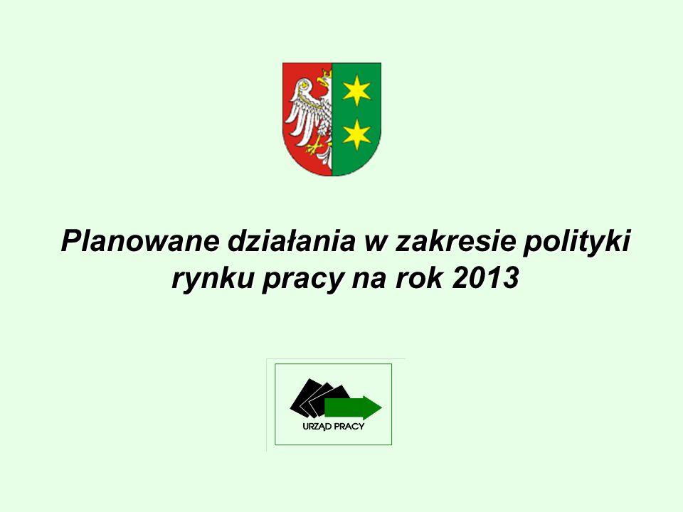 Planowane działania w zakresie polityki rynku pracy na rok 2013