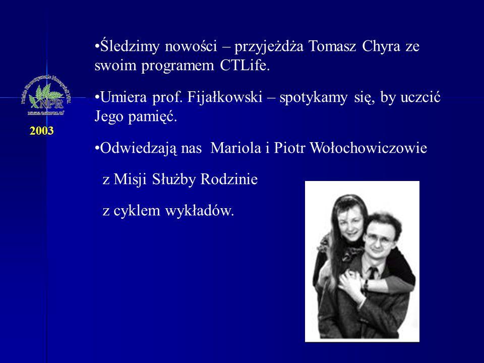 Śledzimy nowości – przyjeżdża Tomasz Chyra ze swoim programem CTLife. Umiera prof. Fijałkowski – spotykamy się, by uczcić Jego pamięć. Odwiedzają nas