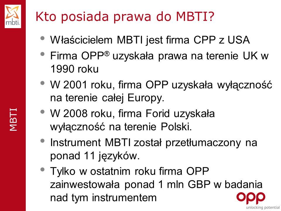 MBTI Kto posiada prawa do MBTI.