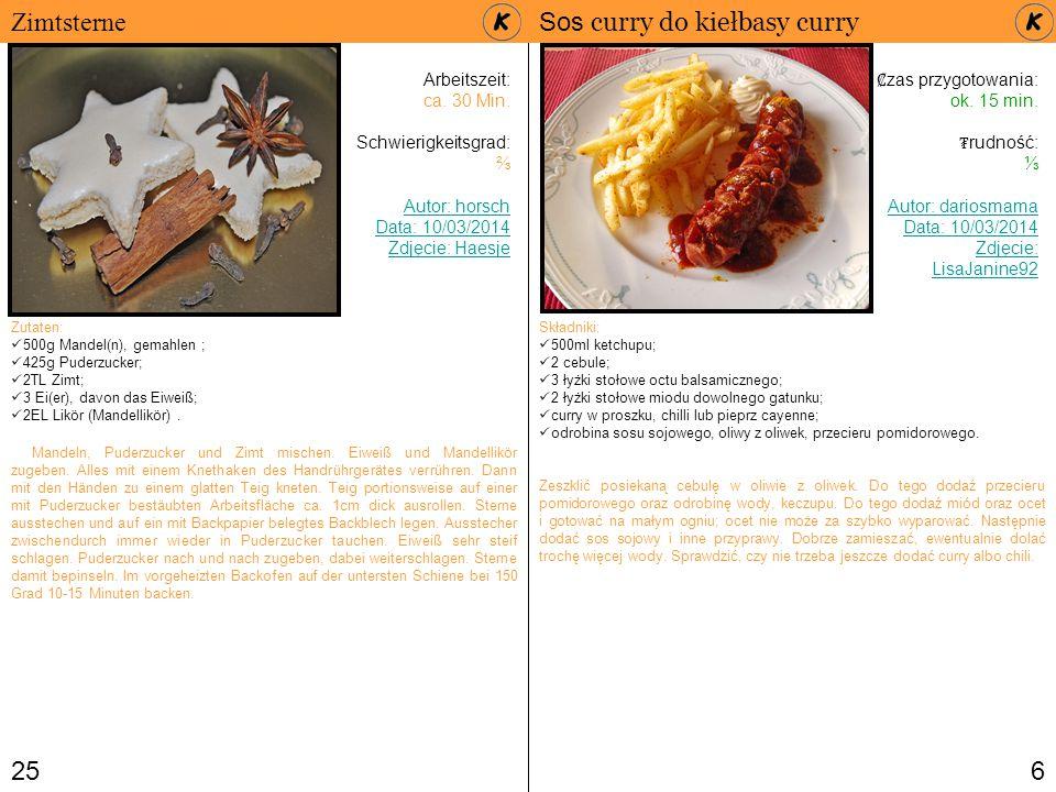 3 Die Inhaltsverzeichnis S.5 – Currysauce für Currywurst S.
