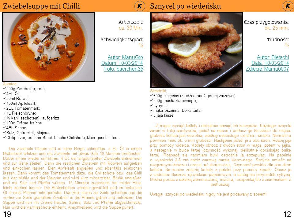 1912 Zwiebelsuppe mit Chilli Zutaten: 500g Zwiebel(n), rote; 4EL Ől; 50ml Rotwein; 150ml Apfelsaft; 2EL Tomatenmark; 1L Fleischbr ȕ he; ¼ Vanilleschot