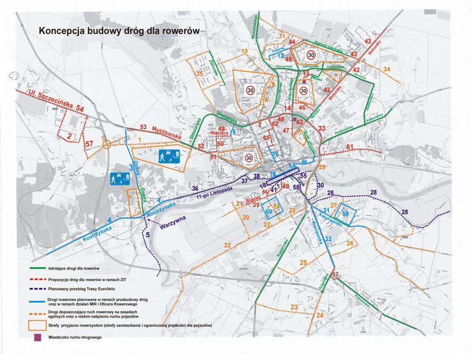 Działania w ramach ZIT: - budowa systemu dróg rowerowych w Gorzowie Wlkp.