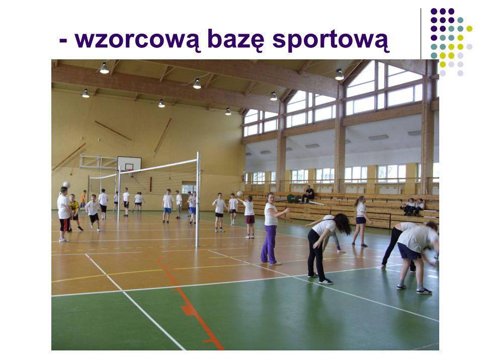 - wzorcową bazę sportową