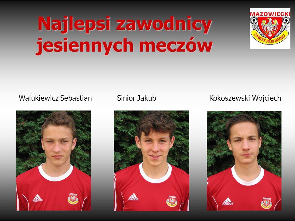 Najlepsi zawodnicy jesiennych meczów Walukiewicz Sebastian Sinior Jakub Kokoszewski Wojciech