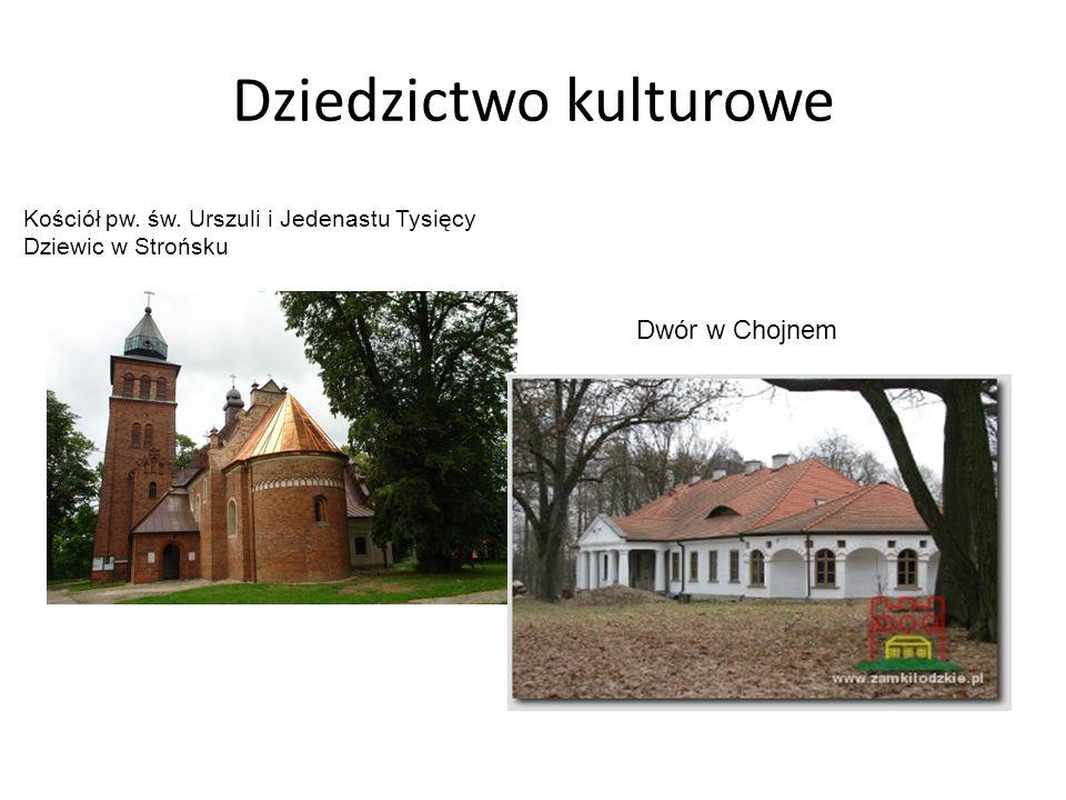 Dziedzictwo kulturowe Kościół pw. św. Urszuli i Jedenastu Tysięcy Dziewic w Strońsku Dwór w Chojnem