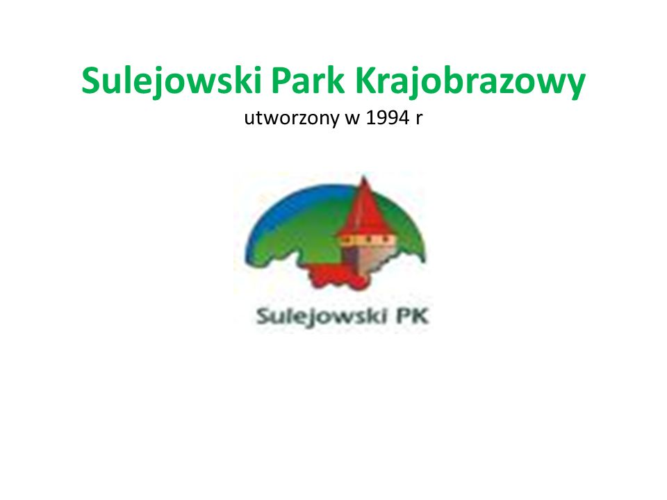 Sulejowski Park Krajobrazowy utworzony w 1994 r