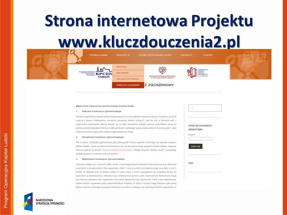 Strona internetowa Projektu www.kluczdouczenia2.pl