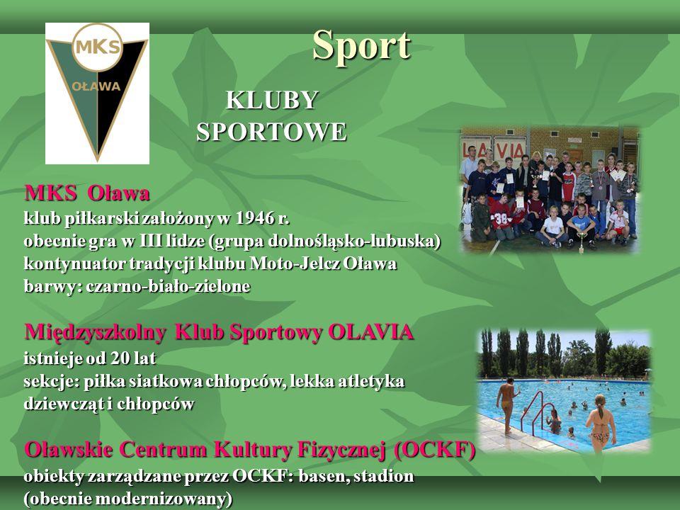 Sport SportKLUBYSPORTOWE MKS Oława klub piłkarski założony w 1946 r. obecnie gra w III lidze (grupa dolnośląsko-lubuska) kontynuator tradycji klubu Mo