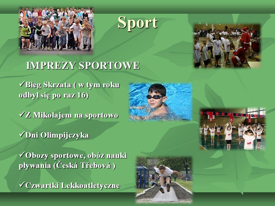 Sport IMPREZY SPORTOWE IMPREZY SPORTOWE Bieg Skrzata ( w tym roku odbył się po raz 16) Bieg Skrzata ( w tym roku odbył się po raz 16) Z Mikołajem na s