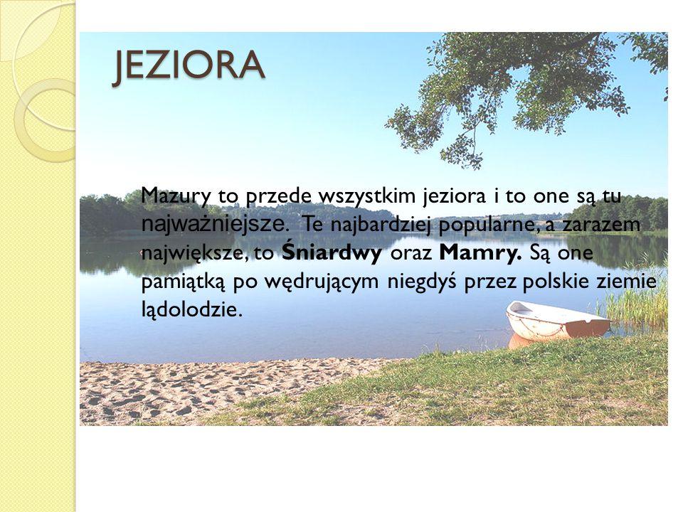 JEZIORA Mazury to przede wszystkim jeziora i to one są tu najważniejsze. Te najbardziej popularne, a zarazem największe, to Śniardwy oraz Mamry. Są on