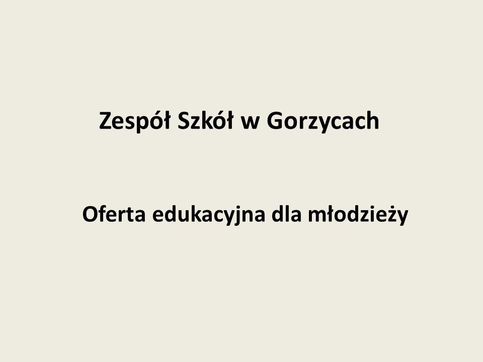 Oferta edukacyjna dla młodzieży Zespół Szkół w Gorzycach