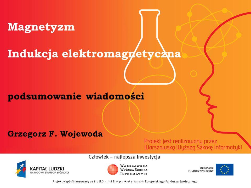 Magnetyzm Indukcja elektromagnetyczna podsumowanie wiadomości Grzegorz F. Wojewoda informatyka + 2