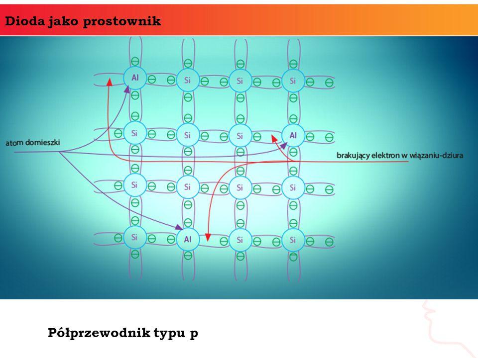 Dioda jako prostownik Półprzewodnik typu p