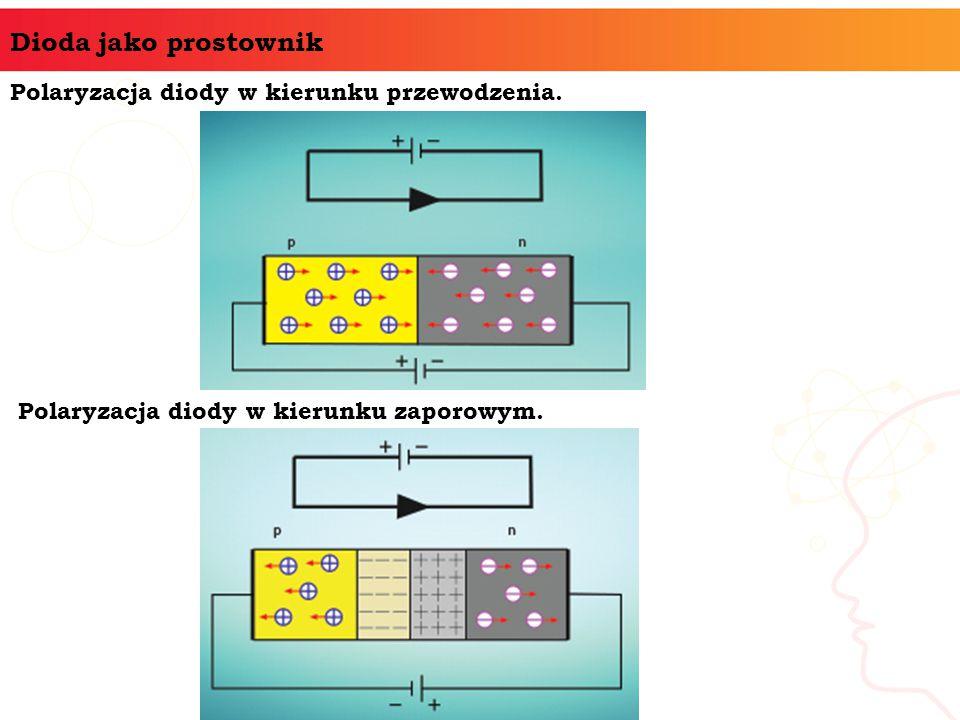 Dioda jako prostownik Polaryzacja diody w kierunku przewodzenia. Polaryzacja diody w kierunku zaporowym.