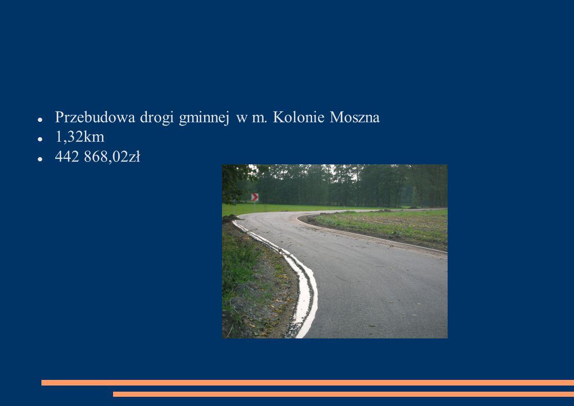 Przebudowa drogi gminnej w m. Kolonie Moszna 1,32km 442 868,02zł