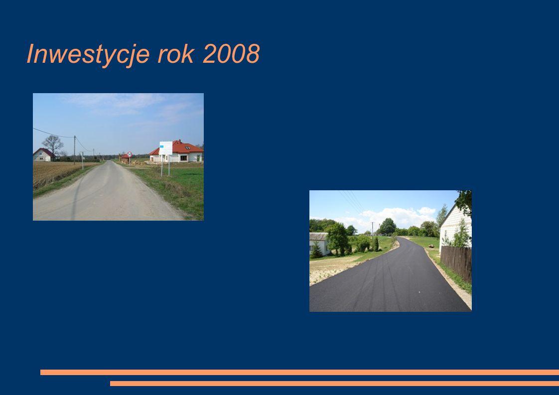 Inwestycje rok 2008