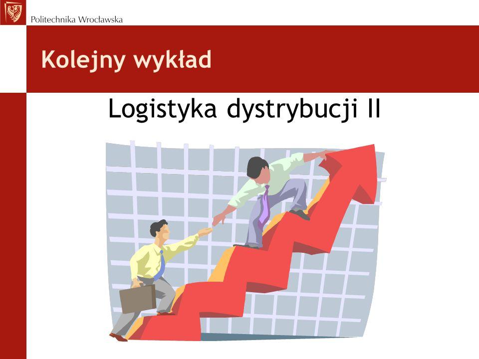 Kolejny wykład Logistyka dystrybucji II