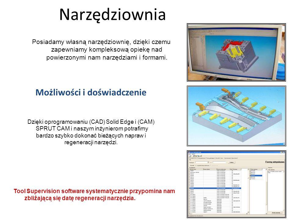 Możliwości i doświadczenie Dzięki oprogramowaniu (CAD) Solid Edge i (CAM) SPRUT CAM i naszym inżynierom potrafimy bardzo szybko dokonać bieżących napr