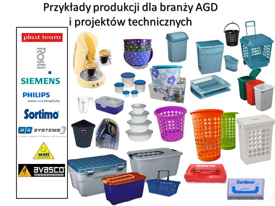Przykłady produkcji dla branży AGD i projektów technicznych
