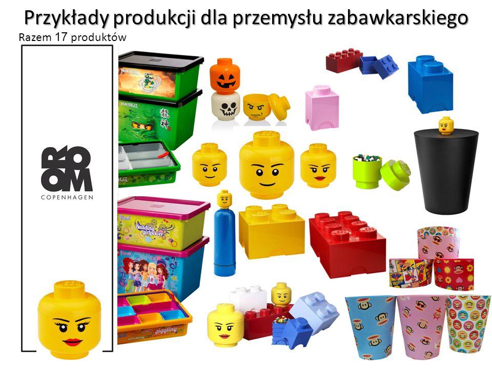 Przykłady produkcji dla przemysłu zabawkarskiego Razem 17 produktów