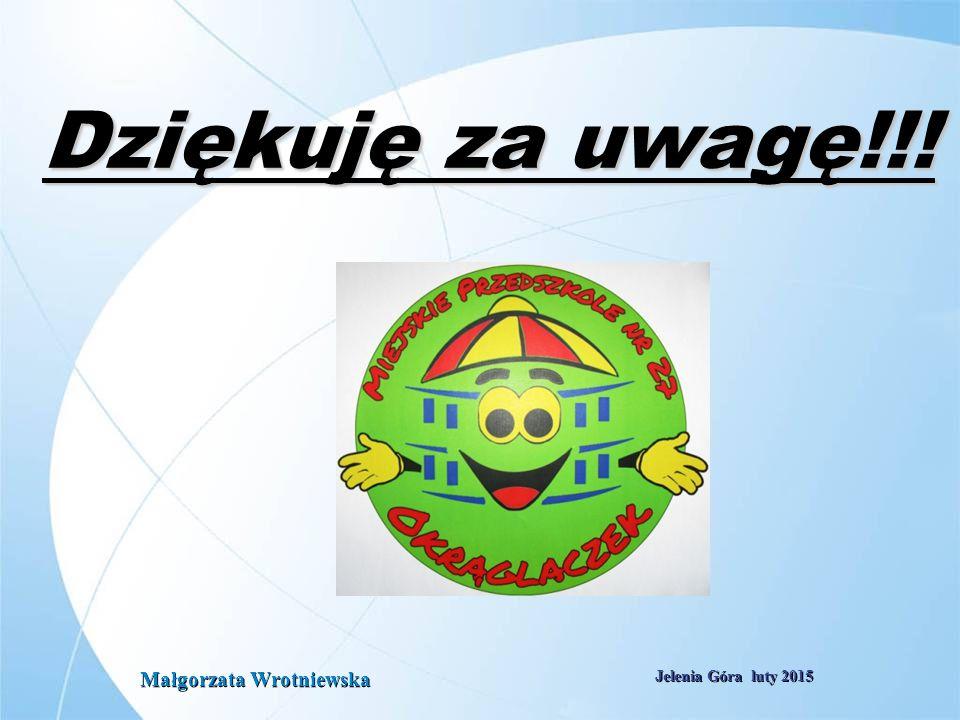Electrabel i Grupa GDF SUEZ - Kim jesteśmy? Październik 2008 Slajd: 30 Jelenia Góra luty 2015 Dziękuję za uwagę!!! Małgorzata Wrotniewska
