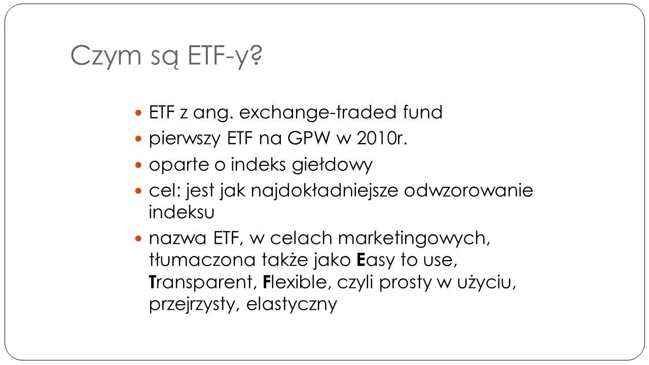 Inwestowanie w ETF-zalety 1.Prostota 2. Maksymalna dywersyfikacja 3.